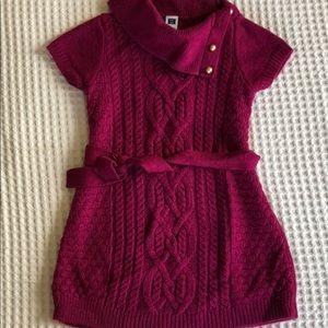 Janie and Jack magenta sweater dress